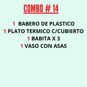 COMBO : SU PRIMERA COMIDA